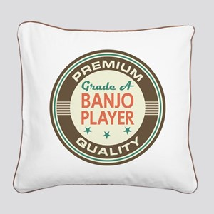 Banjo Player Vintage Square Canvas Pillow